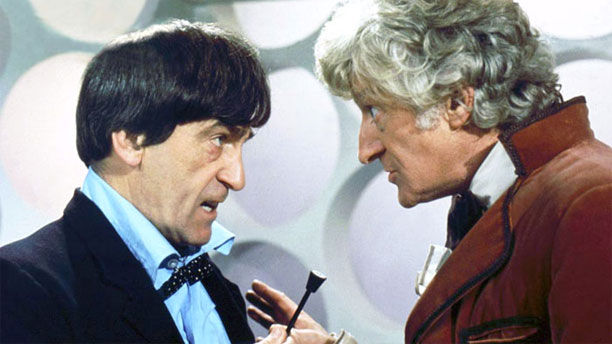 Two and Three have at it in 'The Three Doctors' (Pic: BBC)