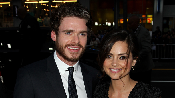 Richard Madden and Jenna Coleman and the Season 3 Premiere of Game of Thrones (Photo by Matt Sayles /Invision/AP)