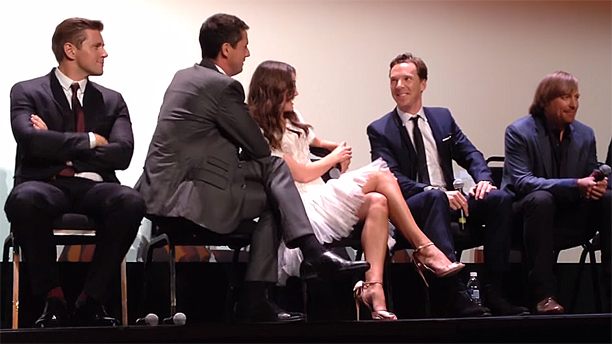 Keira Knightley, Benedict Cumberbatch and the cast of 'The Imitation Game' at TIFF (Pic: YouTube)