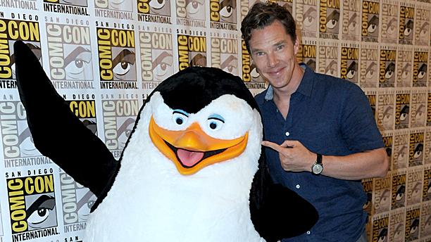 Benedict Cumberbatch and... er... friend. (Pic: Richard Shotwell/Invision/AP