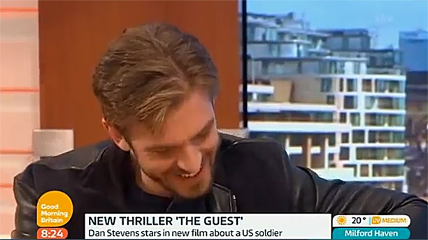 Dan Stevens on Good Morning Britain (Pic: ITV)