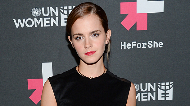 Emma Watson launching the #HeForShe campaign in New York (Pic: Evan Agostini Invision/AP)