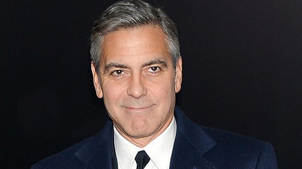 George Clooney, Dame Maggie having swooned (Pic: Evan Agostini/Invision/AP)