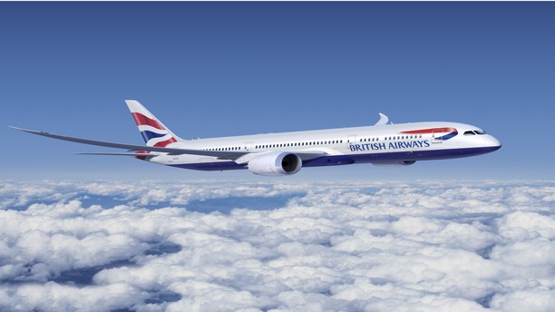 British Airways' Boeing 787 in flight (British Airways).