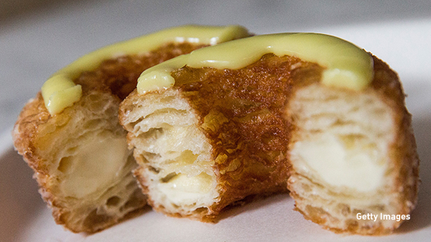 A cronut from Dominique Ansel Bakery. (Photo illustration by Andrew Burton/Getty Images)