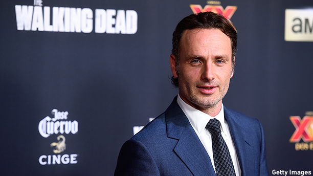 "UNIVERSAL CITY, CA - OCTOBER 02:  Actor Andrew Lincoln attends the season 5 premiere of ""The Walking Dead"" at AMC Universal City Walk on October 2, 2014 in Universal City, California.  (Photo by Frazer Harrison/Getty Images)"