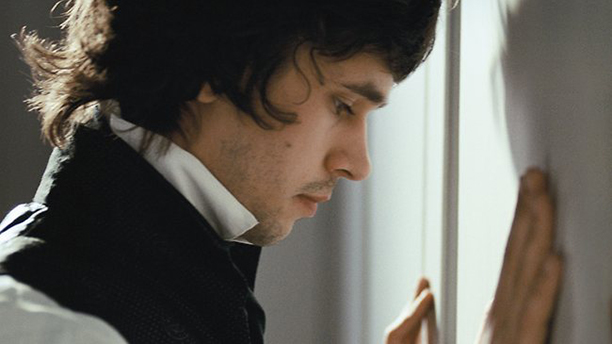 Ben Whishaw is having a moment with his cravat, as John Keats in XX. (XX)