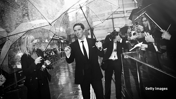 LONDON, ENGLAND - OCTOBER 08:  (EDITORS NOTE: This image has been digitally altered) Actor Benedict Cumberbatch attends the opening night gala screening of 'The Imitation Game' during the 58th BFI London Film Festival at Odeon Leicester Square on October 8, 2014 in London, England.  (Photo by Gareth Cattermole/Getty Images for BFI)