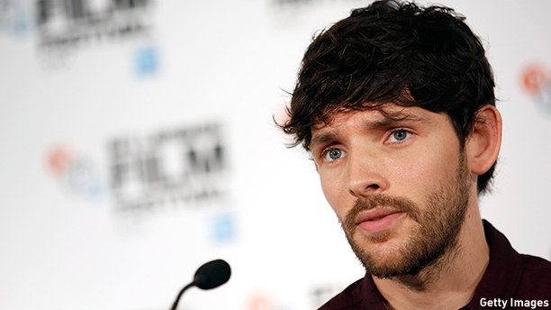 Colin Morgan rocks some scruff at the press conference for Testament of Youth in London, England. (Tim P. Whitby/Getty)