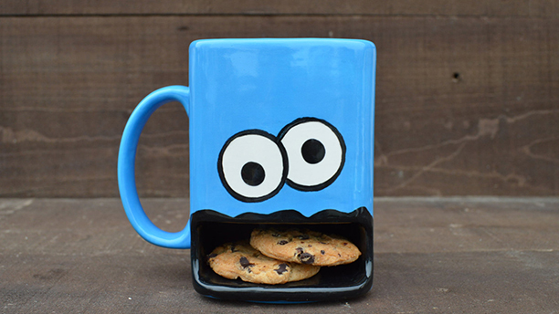 Cookie Monster? ... this may be a lost cause. (Etsy)