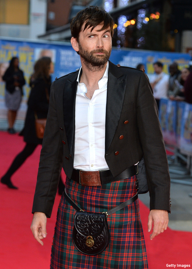 "LONDON, ENGLAND - SEPTEMBER 22:  David Tennant attends the World Premiere of ""What We Did On Our Holiday"" at Odeon West End on September 22, 2014 in London, England.  (Photo by Anthony Harvey/Getty Images)"