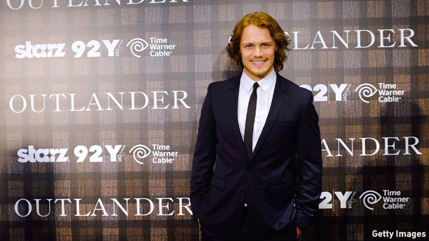 "NEW YORK, NY - JULY 28:  Actor Sam Heughan attends the ""Outlander"" series screening at 92nd Street Y on July 28, 2014 in New York City.  (Photo by Jemal Countess/Getty Images)"