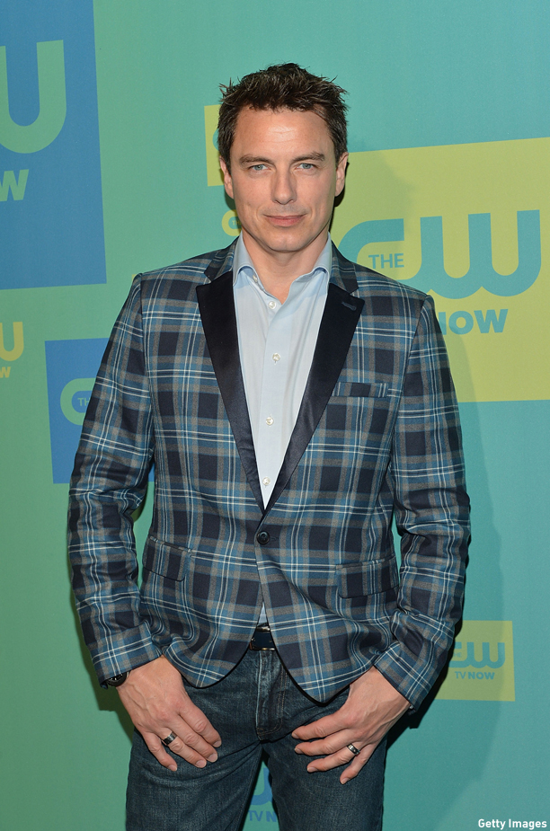 NEW YORK, NY - MAY 15:  Actor John Barrowman attends the CW Network's New York 2014 Upfront Presentation at The London Hotel on May 15, 2014 in New York City.  (Photo by Slaven Vlasic/Getty Images)