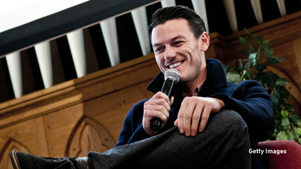 BALTIMORE, MD - OCTOBER 07: Luke Evans speaks during a Q&A discussion before laying a wreath on the grave of Edgar Allan Poe on the 162nd anniversary of his death at Westminster Hall on October 7, 2011 in Baltimore, Maryland. (Photo by Kris Connor/Getty Images)