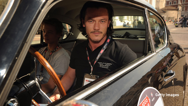 BRESCIA, ITALY - MAY 15:  Luke Evans attends Mille Miglia 2014, 1000 Miles Historic Road Race on May 15, 2014 in Brescia, Italy.  (Photo by Pier Marco Tacca/Getty Images)