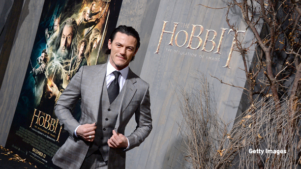 """HOLLYWOOD, CA - DECEMBER 02:  Actor Luke Evans  attends the premiere of Warner Bros' """"The Hobbit: The Desolation Of Smaug"""" at TCL Chinese Theatre on December 2, 2013 in Hollywood, California.  (Photo by Mark Davis/Getty Images)"""