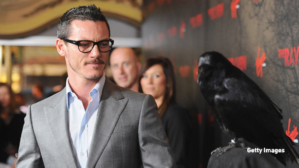 """LOS ANGELES, CA - APRIL 23:  Actor Luke Evans arrives at the Los Angeles premiere of Relativity Media's """"The Raven"""" held at the Los Angeles Theatre on April 23, 2012 in Los Angeles, California.  (Photo by Frazer Harrison/Getty Images For Relativity Media)"""
