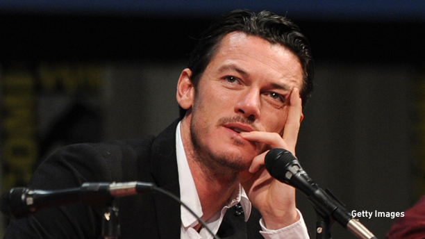 SAN DIEGO, CA - JULY 23:  Actor Luke Evans speaks at Relativity Panel during Comic-Con 2011 on July 23, 2011 in San Diego, California.  (Photo by Kevin Winter/Getty Images)