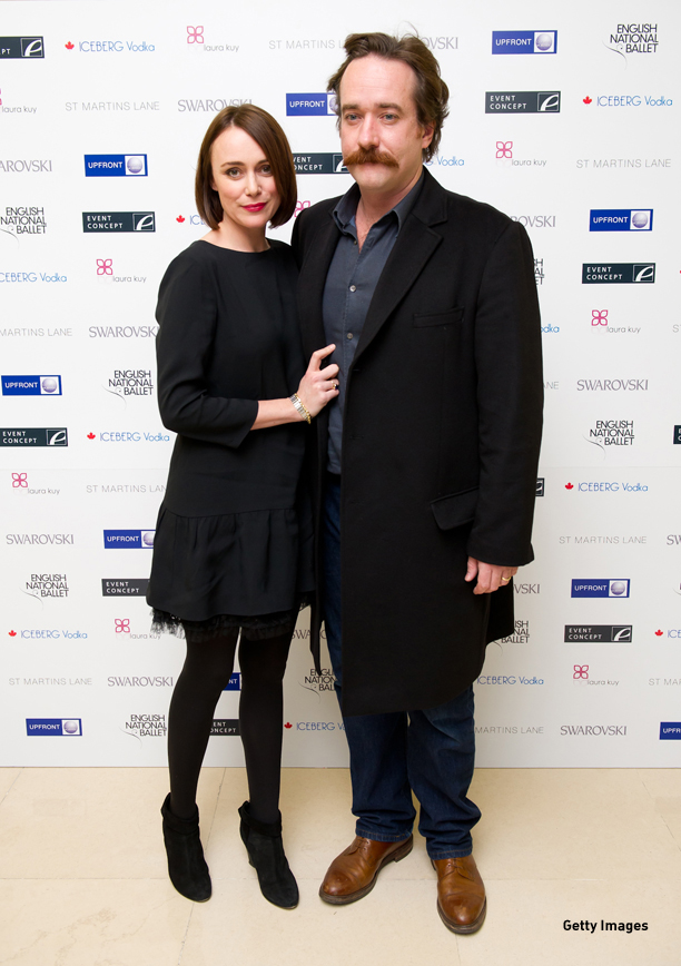 LONDON, ENGLAND - DECEMBER 14:  Keeley Hawes Matthew Macfayden attend The English National Ballet's Christmas Party at the St Martins Lane Hotel on December 14, 2011 in London, England. (Photo by Ian Gavan/Getty Images)