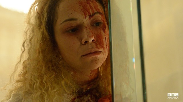 Got a little blood there on your face, Helena.