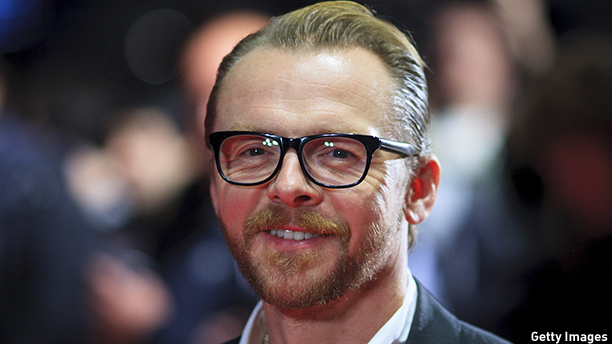"LONDON, ENGLAND - OCTOBER 18:  Simon Pegg attends the red carpet arrivals of ""Kill Me Three Times"" during the 58th BFI London Film Festival at Odeon West End on October 18, 2014 in London, England.  (Photo by John Phillips/Getty Images)"