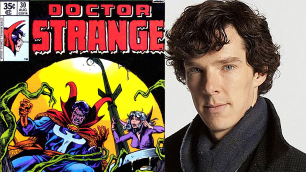 Benedict Cumberbatch and Doctor Strange (Pics: Marvel Comics and BBC)
