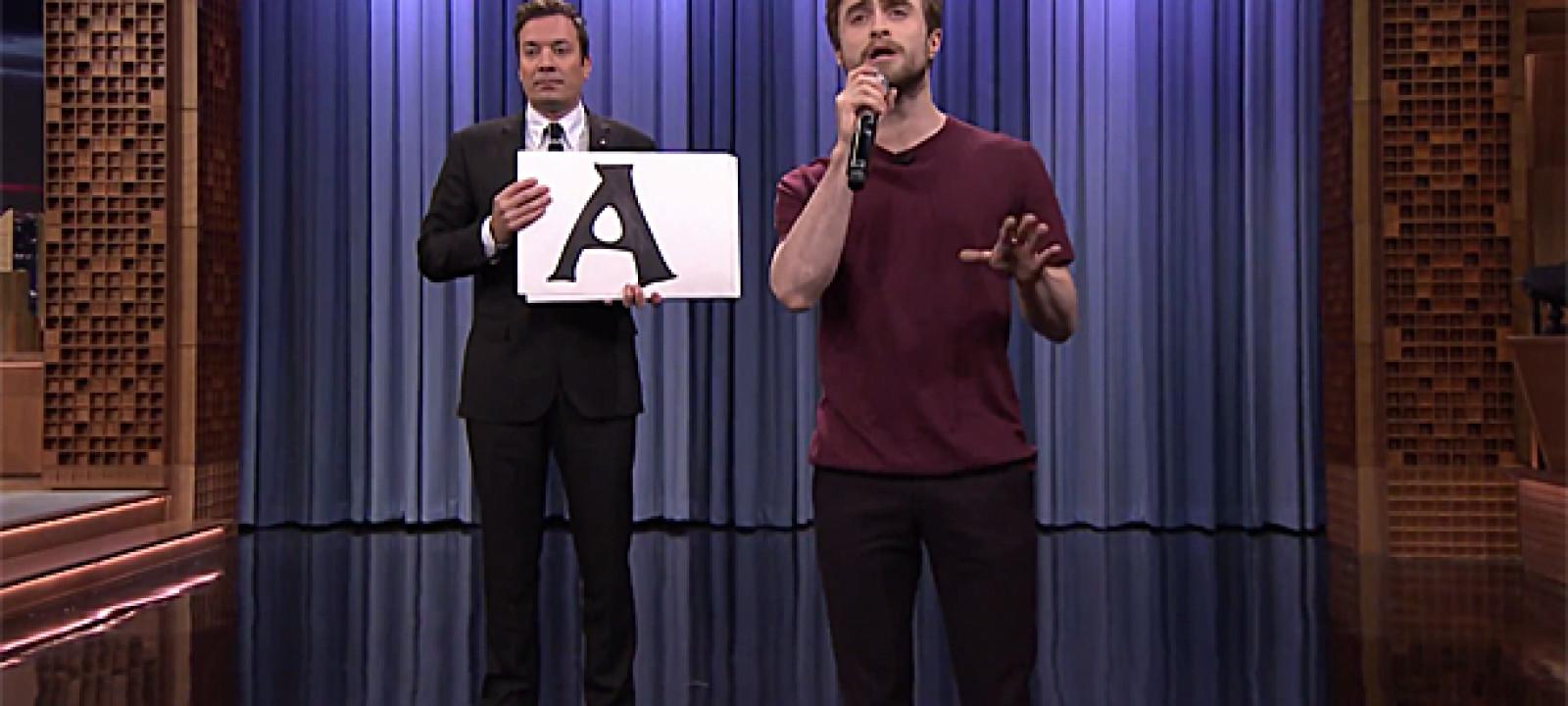 Daniel Radcliffe and Jimmy Fallon (Pic: NBC)