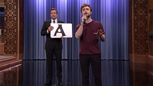 Daniel Radcliffe and Jimmy Fallon (Pic: NBC)