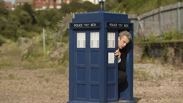 This isn't even as small as the TARDIS can go. (Pic: BBC)