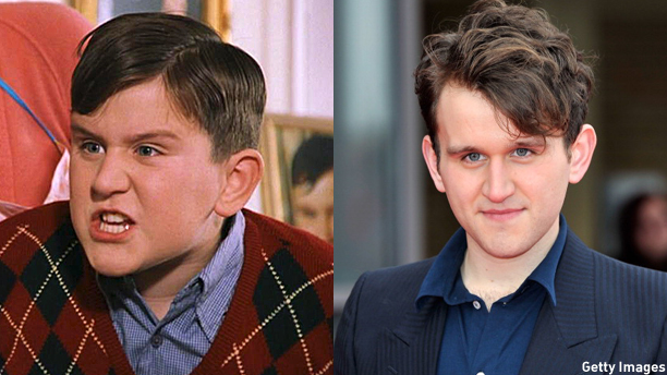 Harry Melling in 'Harry Potter and the Sorcerer's Stone' and at the 2012 opening of the Warner Bros Harry Potter studio tour.