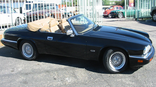 A 1994 Jaguar XJS Convertible for sale at the British Car Service (British Car Service).