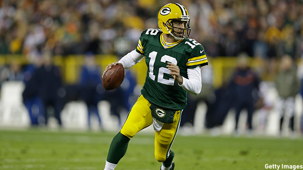 Aaron Rodgers of the Green Bay Packers. (Photo: Tom Lynn /Getty Images)
