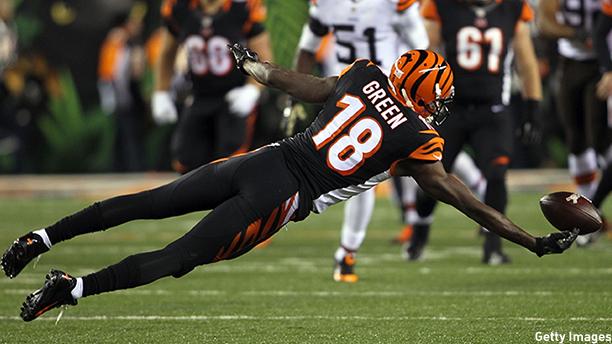 A.J. Green of the Cincinnati Bengals. (Photo: John Grieshop/Getty Images)