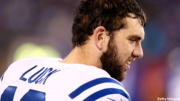 Andrew Luck of the Indianapolis Colts. (Photo: Jeff Zelevansky/Getty Images)