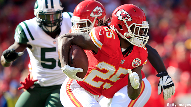Jamaal Charles of the Kansas City Chiefs. (Photo: Jamie Squire/Getty Images)