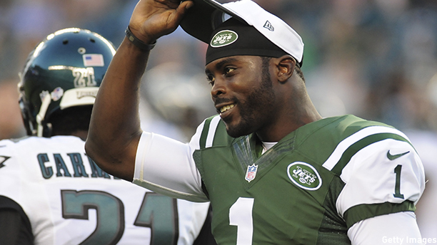 Michael Vick of the New York Jets. (Photo: Evan Habeeb/Getty Images)