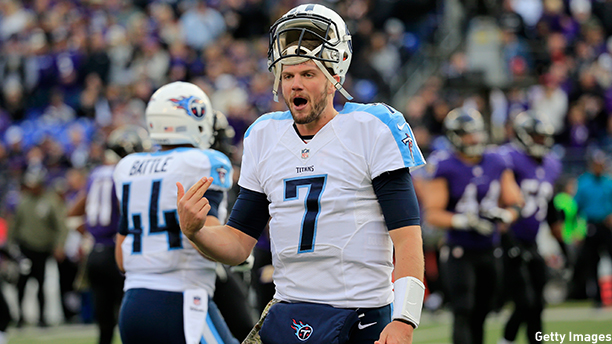 Zach Mettenberger of the Tennessee Titans. (Photo: Rob Carr/Getty Images)