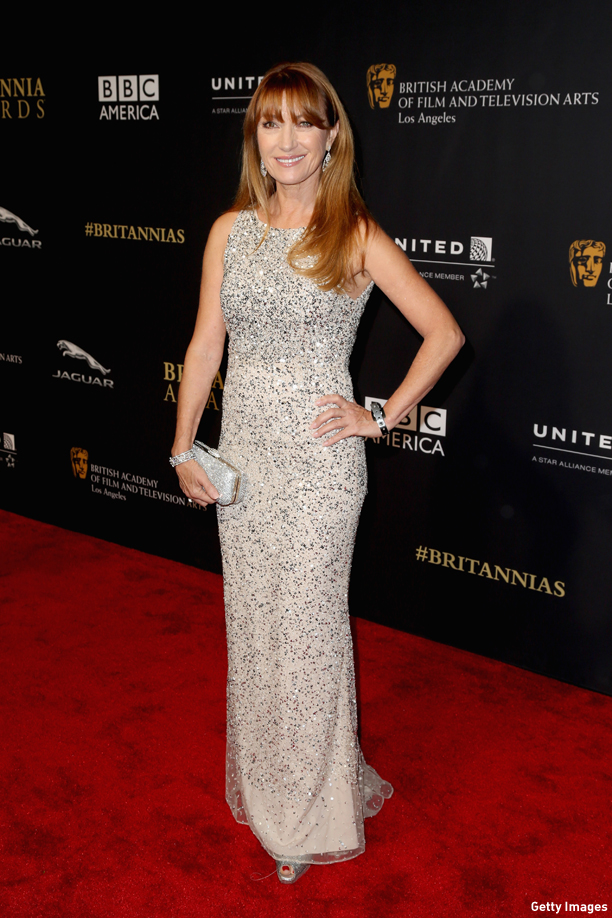 And, what started all this: Jane Seymour in all her amazingness at the 2014 Britannias in Los Angeles, CA. BEVERLY HILLS, CA - OCTOBER 30:  Actress Jane Seymour attends the BAFTA Los Angeles Jaguar Britannia Awards presented by BBC America and United Airlines at The Beverly Hilton Hotel on October 30, 2014 in Beverly Hills, California.  (Photo by Frederick M. Brown/Getty Images)