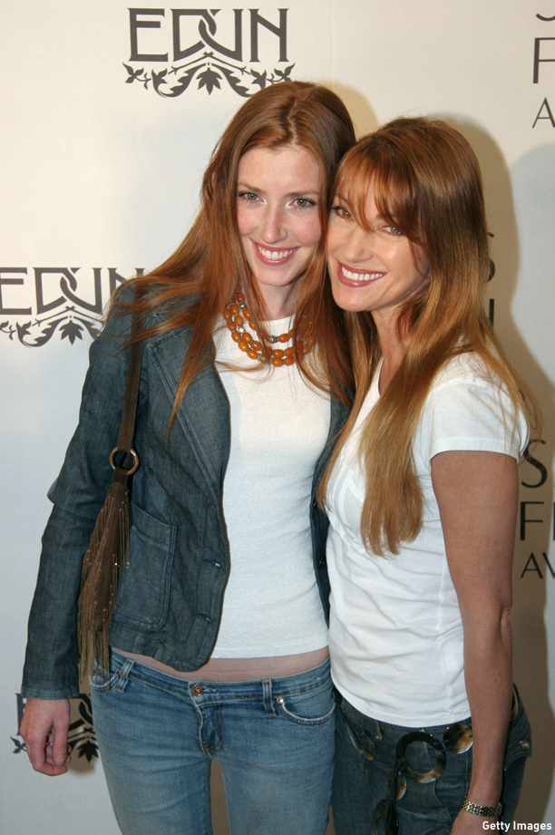 "Jane's daughter Katie probably hears this a lot: ""Are you guys sisters?"" (XX)LOS ANGELES - MARCH 25:   (L-R)  Katie Seymour and Jane Seymour attend  the reception that marks the launch of the new line of contemporary clothing at Saks Fifth Avenue March 25, 2005 in Los Angeles, California. The new line clothing, ""EDUN"", was designed by Bono and his wife Ali Hewson in collaboration with Gregory.  (Photo by Marsaili McGrath/Getty Images)"