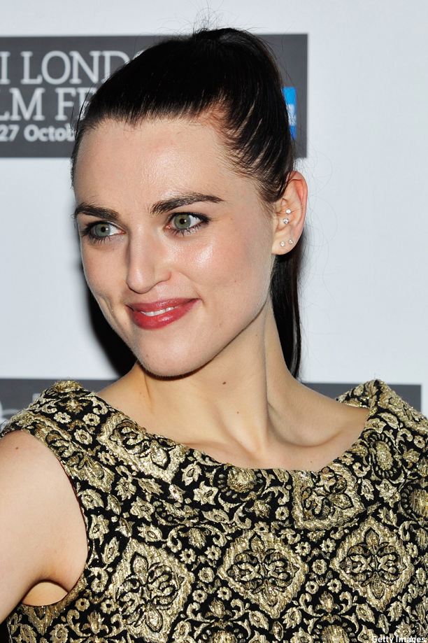 "LONDON, ENGLAND - OCTOBER 23:  Actress Katie McGrath attends the ""W.E."" premiere during the 55th BFI London Film Festival at Empire Leicester Square on October 23, 2011 in London, England.  (Photo"