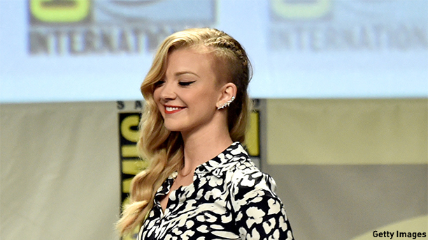 SAN DIEGO, CA - JULY 26:  Actress Natalie Dormer attends Entertainment Weekly: Women Who Kick Ass panel and presentation and presentation during Comic-Con International 2014 at San Diego Convention Center on July 26, 2014 in San Diego, California.  (Photo by Kevin Winter/Getty Images)