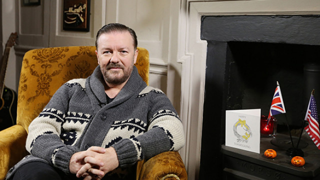Ricky Gervais Thanksgiving message for BA (C) Nick Morrish, British Airways[3]