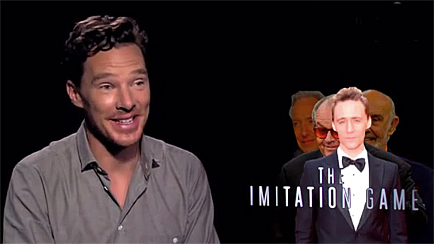 Benedict Cumberbatch does 'The Imiitation Game' (Pic: MTV)