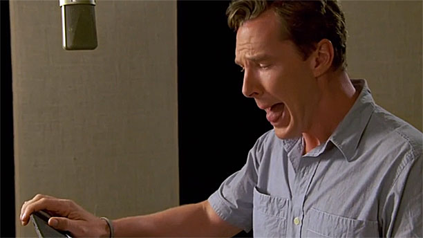Benedict Cumberbatch's poodle impression (Pic: Fox Family Entertainment)