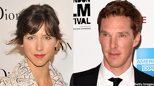 Benedict Cumberbatch and Sophie Hunter (Pics: Gary Gershoff and Gareth Cattermole/Getty Images)