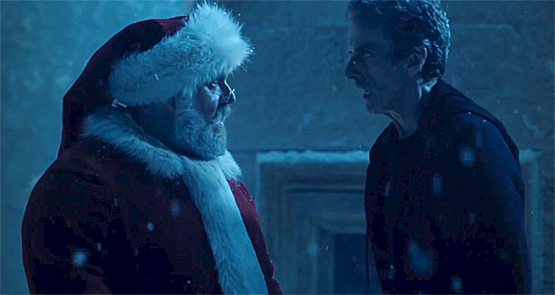 """Saint"" Nick Frost and Peter Capaldi in 'Doctor Who' (Pic: BBC)"
