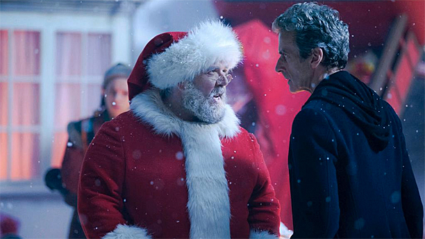 Nick Frost and Peter Capaldi in the Doctor Who Christmas Special 2014 (Pic: BBC)