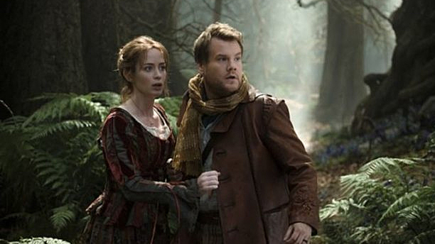 Emily Blunt and James Corden in 'Into The Woods' (Pic: Disney)