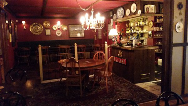 The traditional British pub decor inside Tulsa's White Lion Pub. (Facebook)