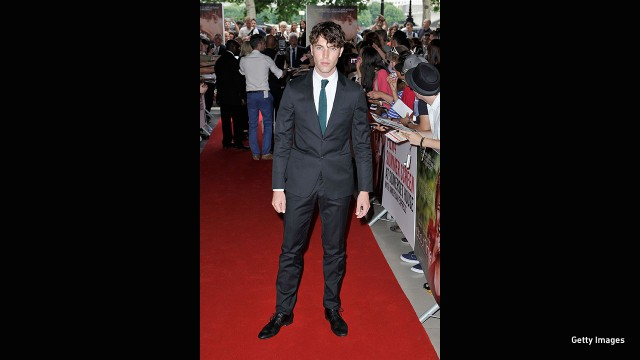 "Hughes attends the ""About Time"" world premiere at Somerset House in London."